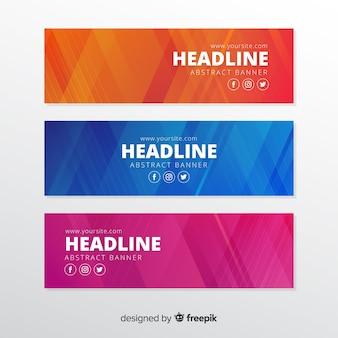 Banner formas geométricas coloridas