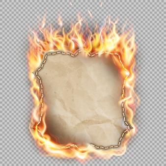 Banner de fuego caliente.