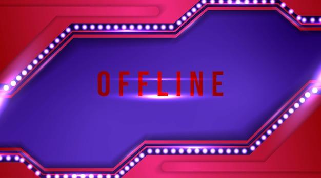 Banner fuera de línea moderno con fondo abstracto para twitch
