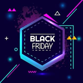 Banner de geometría creativa de venta flash especial de viernes negro