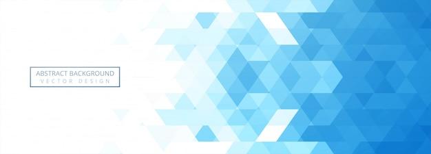 Banner geométrico azul abstracto