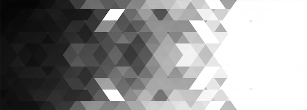 Banner geométrico gris abstracto