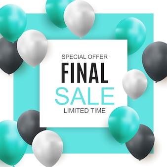 Banner de globos de venta final