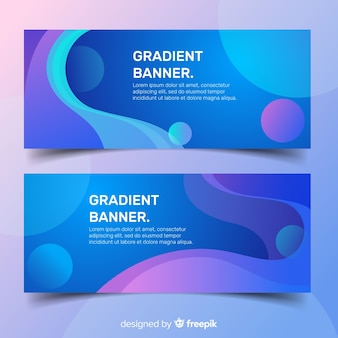 Banner gradient