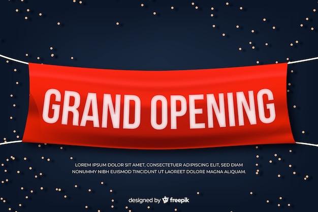 Banner de gran apertura en estilo realista