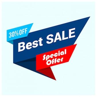 Banner de gran venta, mejor oferta, ilustración vectorial eps10