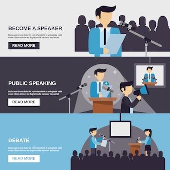Banner para hablar en público