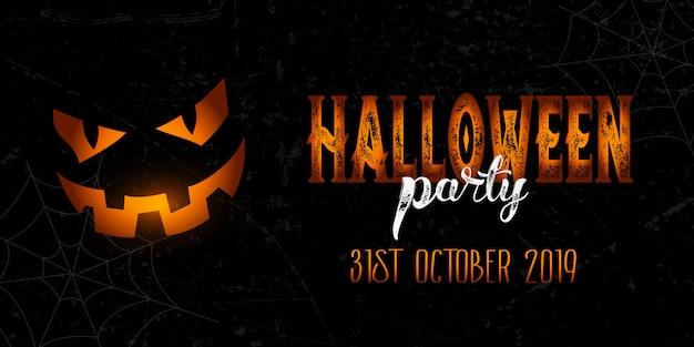 Banner de halloween grunge