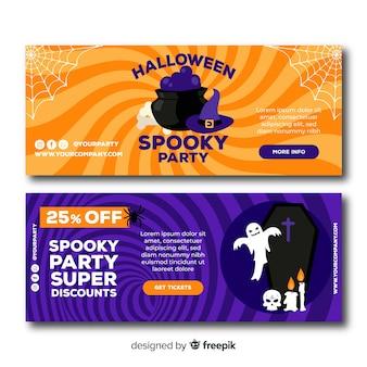 Banner de halloween para sitios en línea