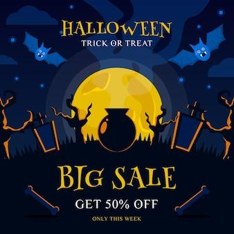 Banner de halloween para la venta