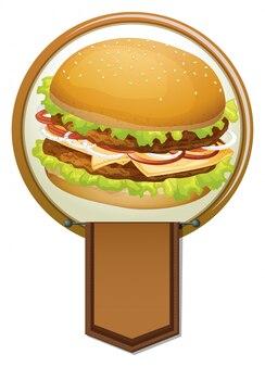 Banner de una hamburguesa