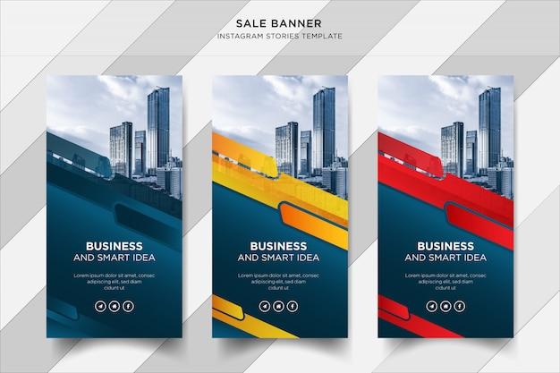 Banner de historias de business instapost, plantilla de publicación en redes sociales