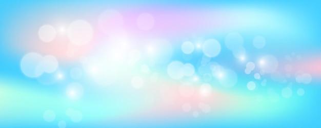 Banner holográfico brillante con destellos