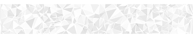 Banner horizontal abstracto o fondo de triángulos en colores blancos.