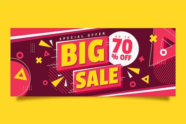 Banner horizontal colorido para la venta