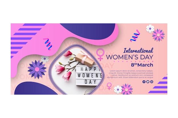 Banner horizontal para el día internacional de la mujer.