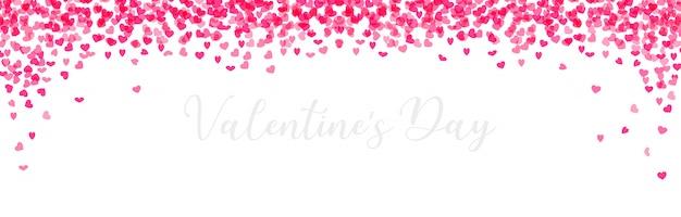 Banner horizontal del día de san valentín