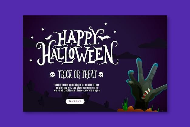 Banner horizontal de halloween