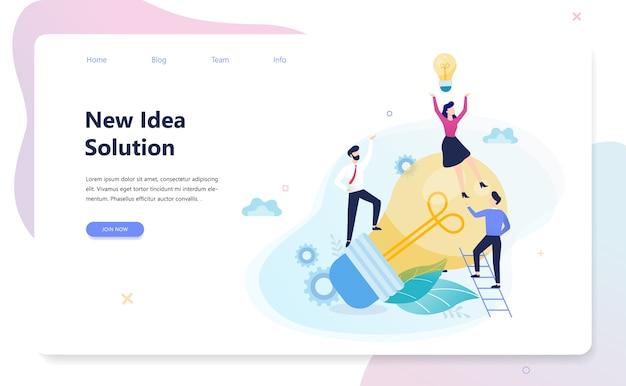Banner horizontal de innovación para su sitio web. idea de solución creativa e invención moderna. inspiración empresarial. ilustración