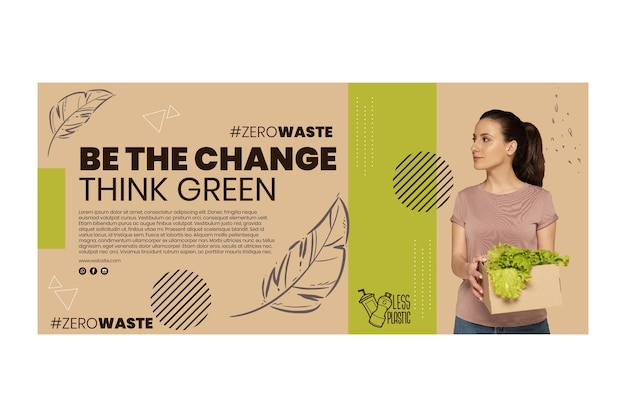 Banner horizontal del medio ambiente