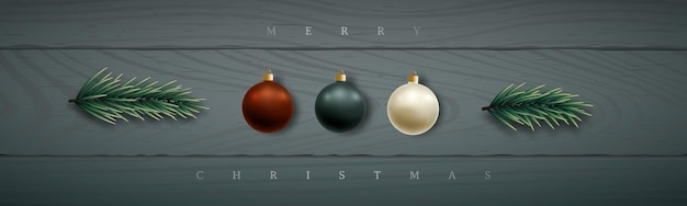 Banner horizontal de navidad