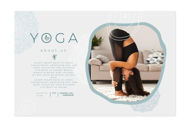 Banner horizontal para practicar yoga.