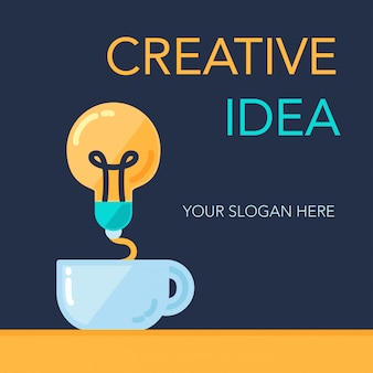 Banner de idea de éxito creativo