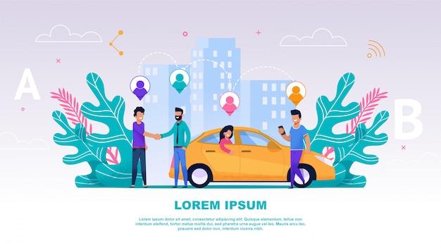 Banner ilustración grupo gente compañero de viaje