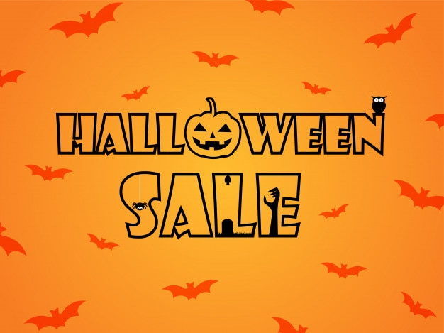 Banner de ilustración de vector de venta de halloween