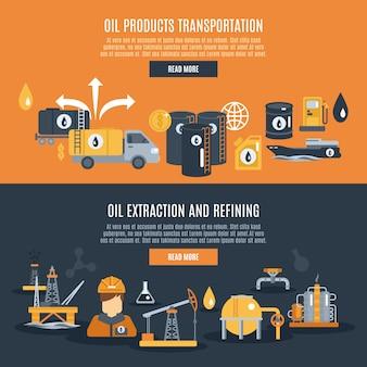 Banner de la industria petrolera