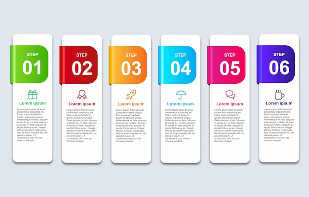 Banner infografía 3d con plantilla de diseño de opciones