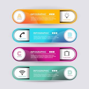 Banner de infografía forma abstracta