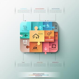 Banner infografía moderna opciones