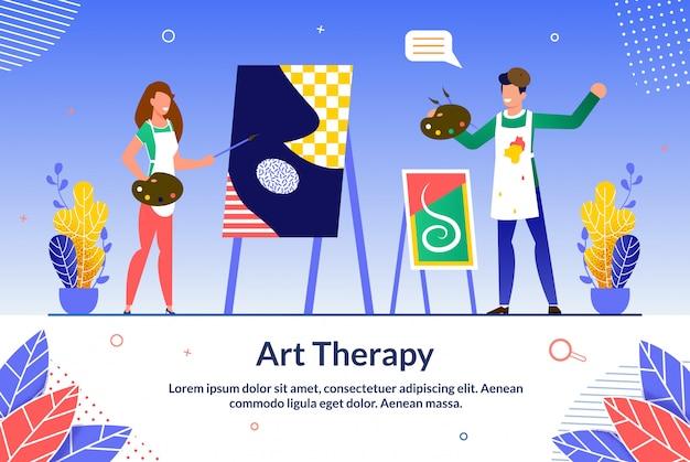 Banner informativo de formación en terapia de arte en línea.