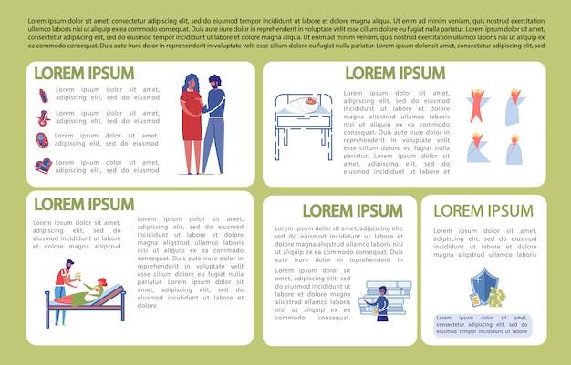 Banner informativo sobre el nacimiento del niño y el cuidado.
