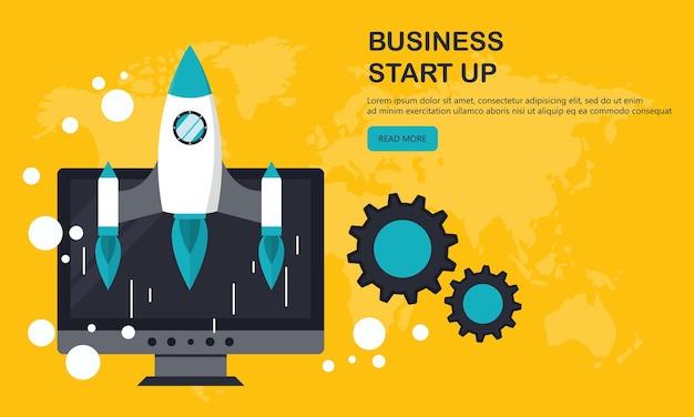 Banner de inicio de proyecto empresarial