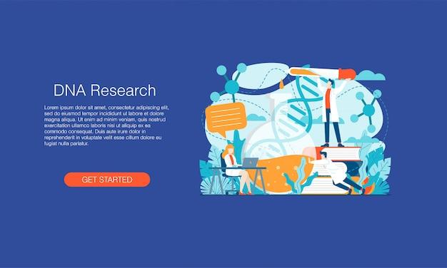 Banner de investigación de adn