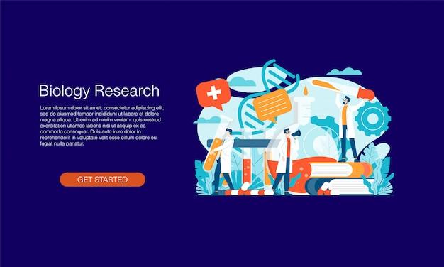Banner de investigación biológica