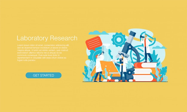 Banner de investigación de laboratorio