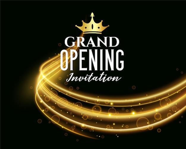 Banner de invitación oscuro de gran inauguración premium
