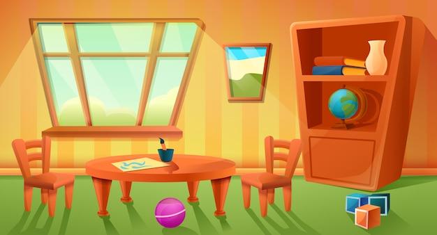 Banner de jardín de infancia, estilo de dibujos animados