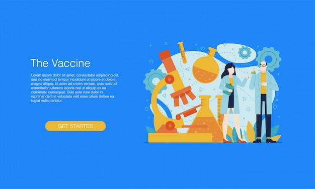 Banner de laboratorio de vacunas