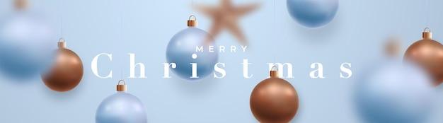 Banner largo de feliz navidad