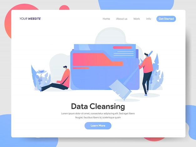 Banner de limpieza de datos de la página de destino