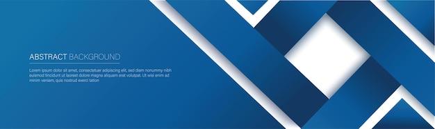 Banner de línea azul moderna