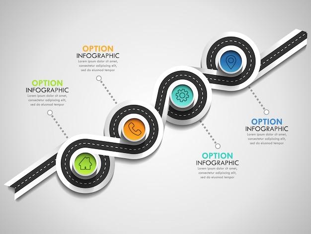 Banner de línea de tiempo de círculo empresarial