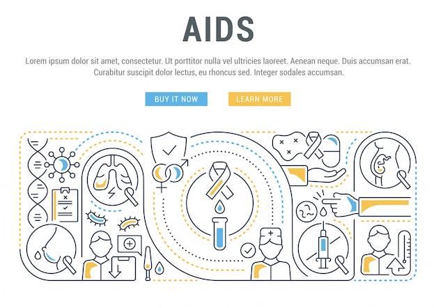 Banner lineal de sida.