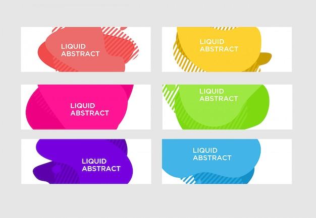 Banner líquido abstracto moderno