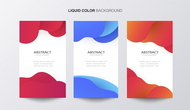 Banner liquido abstracto