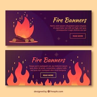 Banner de llamas de venta